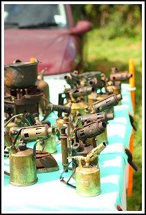 Blowlamp collection at Chagford Show. Rob Pendleton Dartmoor.
