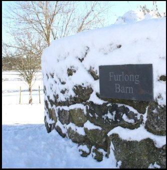 Furlong Barn drive in the snow