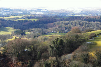 View from Castle Drogo over Furlong towards Dartmoor