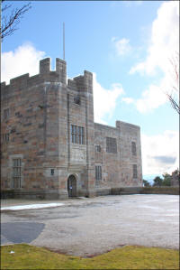 Castle Drogo NT property entrance