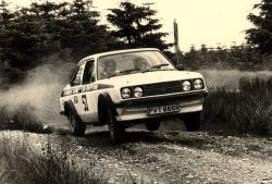 PVT 666R Les Edwards and I in H.G. Bryer Stages Rally 1979. 8th overall