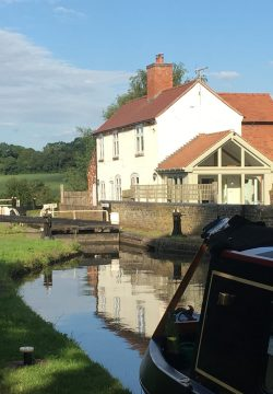 Deptmore lock on Staffs & Worcester Canal at Stafford